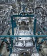 Car manufacturing in a Valmet Automotive body shop in Finland.