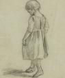 Tegning af en pige, der går på sine tåspidser